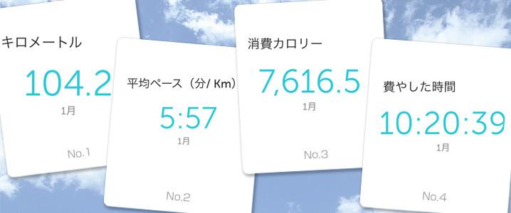 1月のジョギング結果