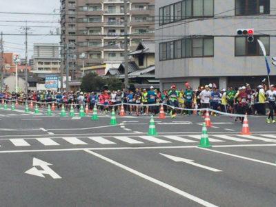 おかやまマラソン5km過ぎ