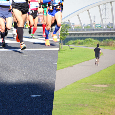 練習とレースのランニングシューズ