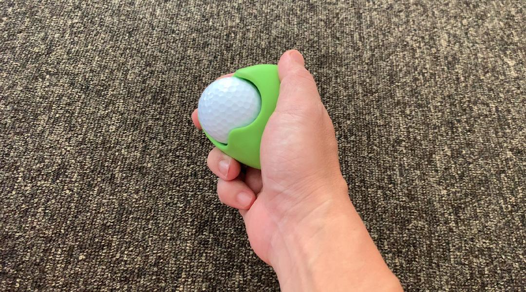台座付きゴルフボール指圧代用機「ごるっち」